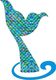 Amazon Com Our Life Mermaid Tail Decal For Car Window Mirror Or Laptop Premium Printed Vinyl 5 Tall Home Kitchen