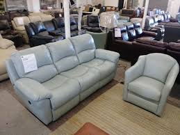 leather power reclining sofa and chair
