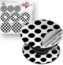 Decal Style Vinyl Skin Wrap 3 Pack For Popsockets Kearas Polka Dots White And Black Popsocket Not Included By Wraptorskinz Walmart Com Walmart Com