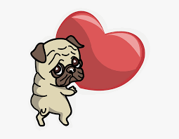 Pug Sticker Messages Sticker 7 Pug Free Transparent Clipart Clipartkey
