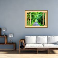 3d Forest Wall Decals Scenic Window Cling Peel And Stick Mural Nw50