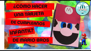 Invitacion Facil De Mario Bros Retoveda Dia 28 Youtube