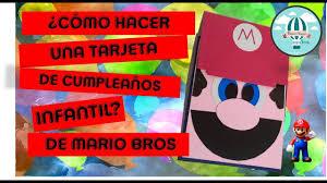 Invitacion Facil De Mario Bros Retoveda Dia 28 Youtube