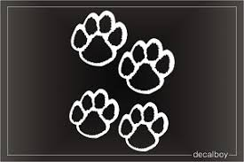 Paw Print Decals Stickers Decalboy