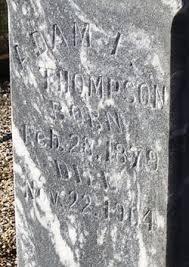 "Adam L. ""Addie"" Thompson (1879-1904) - Find A Grave Memorial"