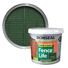 Ronseal 5l One Coat Fencelife Forest Green Leekes