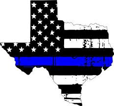 Thin Blue Line Decal State Of Texas Tattered Flag Various Sizes Ebay