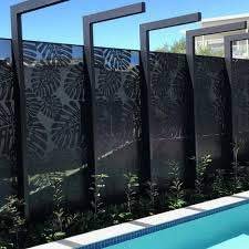 China Laser Cut Black Mirror Solid Aluminum Panel Folding Screen For Fence Metal Fence China Folding Screen And Aluminum Screen Price