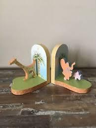 Yoko Ono Lennon Carters Nursery Jungle Safari Bookends Wooden Kids Room 1999 Ebay