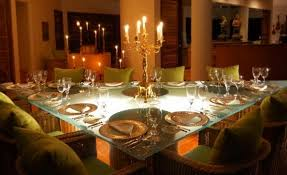 a triangle dining table the