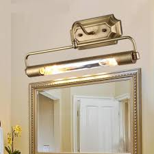 dressing room antique brass led mirror