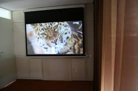 top image of projector in bedroom