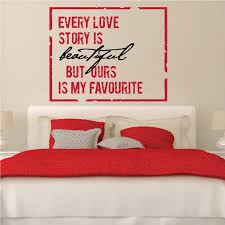 Every Love Story Is Beautiful But Ours Is My Favorite Love Quote Wall Decal Vinyl Decal Car Decal Vd2color007 36 Inches Walmart Com Walmart Com