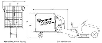 z 10 a large leaf vacuum cyclone rake