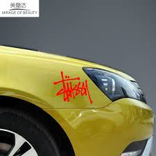 Stussy Art Pen Logo Car Sticker Decal For Motorhome Minicab Bumper Motorcycles Suv Styling Reflective Vinyl Lxs Wall Pattern Stickers For Vinyl Decalstickers Stickers Aliexpress