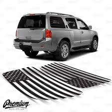 American Flag Rear Quarter Window Decal Set 2004 2016 Nissan Armada Premium Auto Styling