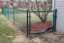 J F Ence Yesterday S Job 4 Foot High Green Chain Link Facebook