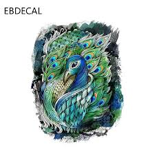Ebdecal Interesting Peacock Decor For Auto Car Bumper Window Wall Decal Sticker Decals Diy Decor Ct11511 Car Stickers Aliexpress
