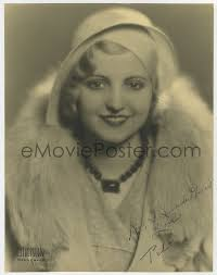 eMoviePoster.com: 4t132 POLLY WALTERS signed deluxe 10.5x13.5 still 1930s  great smiling portrait in fur by Stockton!