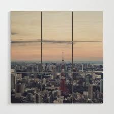 Tokyo Skyline Wood Wall Art By Groppo Society6