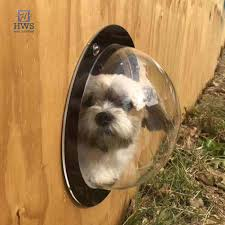 Pets Fence Window Transparent Porthole Peek Acrylic Dome Clear View For Cat Dog Shopee Philippines