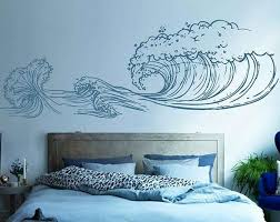 Wave Wall Decals Ocean Wave Wall Decals Ocean Beach Waves Wall Etsy Ocean Themed Bedroom Wall Stickers Vintage Ocean Themed Rooms
