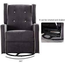 swivel and glide base rocker recliner