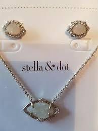 stella dot charlotte pendant set in
