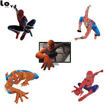 3d Spider Man Wall Sticker Creative Printed Spiderman Vinyl Wall Decal For Kids Room Home Rooms Decor Cw0142 Vinyl Wall Decals Wall Decalswall Sticker Aliexpress
