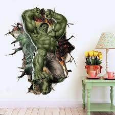 Marvel 3d Incredible Hulk Wall Decals The Treasure Thrift