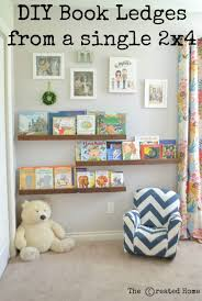Diy Book Ledges From A 2x4 The Created Home