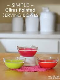 how to paint glass bowls vintage
