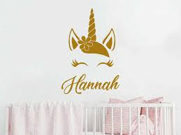 Unicorn Wall Decal Personalized Name Viny Art Stickers For Kids Rooms Cute Animal Nursery Decals Home Decor Girls Gift D235 Wall Stickers Aliexpress