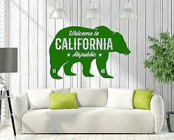Wall Vinyl Decal Sign Greeting Welcome To California Republic Decor Z4796 Ebay