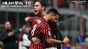 MILAN-SPAL 1-0 - Radiocronaca di Giuseppe Bisantis e Sergio Brio ...
