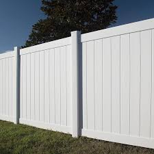 Freedom Ready To Assemble Hampton 6 Ft H X 6 Ft W White Vinyl Flat Top Fence Panel In The Vinyl Fence Panels Department At Lowes Com
