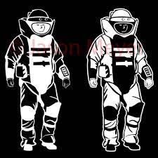 Eod Bomb Suit Vinyl Decal In 2020 Vinyl Decals Bombs Suits
