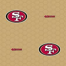 Fathead Logo San Francisco 49ers Gold Vinyl Peelable Roll Covers 33 Sq Ft 1183 00544 The Home Depot