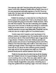my best vacation essay thailand was