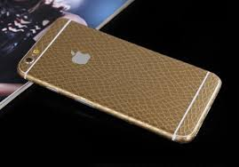 Gold Leather Snake Decal Wrap Skin Iphone 6s 6 Plus Mavasoap
