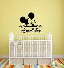 Mickey Mouse Custom Name Wall Decal Personalized Walt Disney Etsy