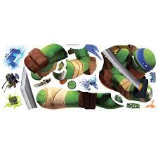 Teenage Mutant Ninja Turtles Leonardo Giant Wall Decal Tmnt Boys Room Stickers Decor Walmart Com Walmart Com