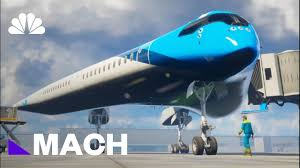 futuristic flying v airplane could