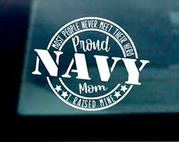 Navy Mom Decal Etsy