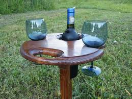 outdoor wine glass holder picnic wine