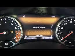 jeep renegade service engine light