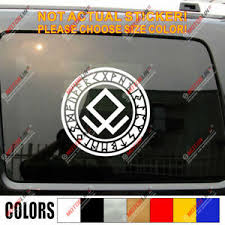 Odin Raven Decal Sticker Viking Norse Nord Norway Car Vinyl Pick Size Color B