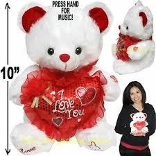 cute valentine day stuffed teddy bear i