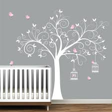 Tree Wall Decal Birdcages With Birds Baby Room Decal Tree Etsy Baby Room Decals Baby Wall Decals Nursery Wall Decals