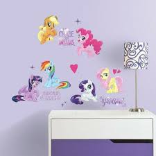 Room Mates My Little Pony The Movie Peel And Stick Wall Decals Size 17 H X 9 W In 2020 Little Pony My Little Pony Pony Wall